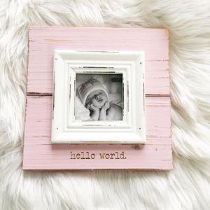 🎀 NEW mud pie Hello World frame